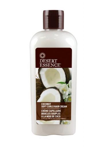 Desert Essence Stylingový kokosový vlasový krém pro jemné kudrnaté vlasy 190 ml