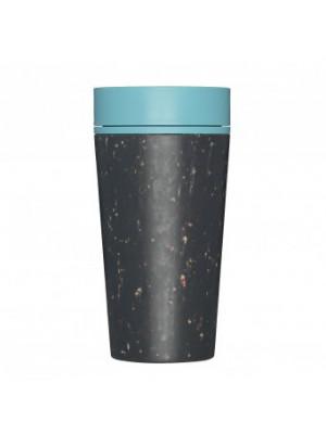 rCUP (340 ml) Black and Teal - kelímek z recyklovaných jednorázových papírových kelímků