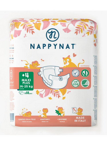 Nappynat natural care Plenky Maxi  Plus 14 - 25 kg (18 ks)