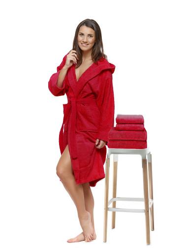 Sada 21 Rosso Natale župan + osuška + ručníky