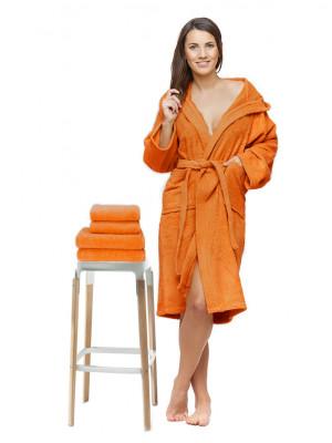 Sada 22 Arancio župan s výšivkou + osuška + ručníky