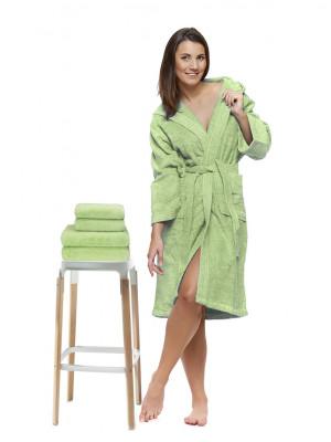 Sada 37 Lime župan s výšivkou + osuška + ručníky