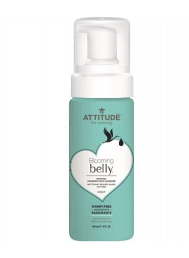 Přírodní pěnivý gel k čištění obličeje ATTITUDE Blooming Belly nejen pro těhotné s arganem 150 ml