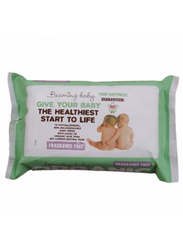 Organické vlhčené ubrousky Beaming baby bez vůně (72 ks)