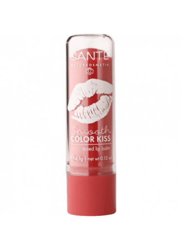 SANTE Balzám na rty Smooth Color Kiss No.02 Soft Red / Jemně Čer