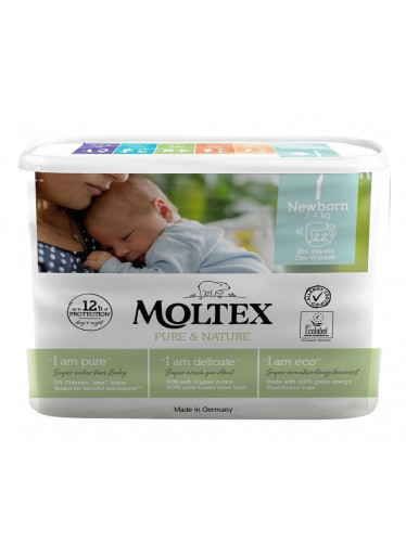 Plenky Moltex Pure & Nature Newborn 2-4 kg (22 ks)