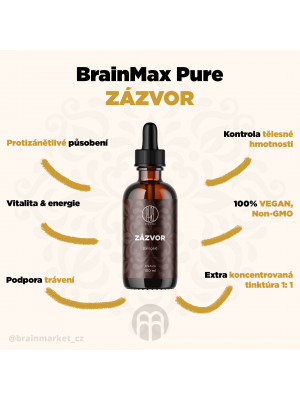 BrainMax Pure Zázvor (Ginger), tinktura, 100 ml
