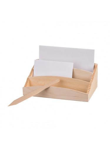 ČistéDřevo Dřevěný stojan na dopisy s nožem