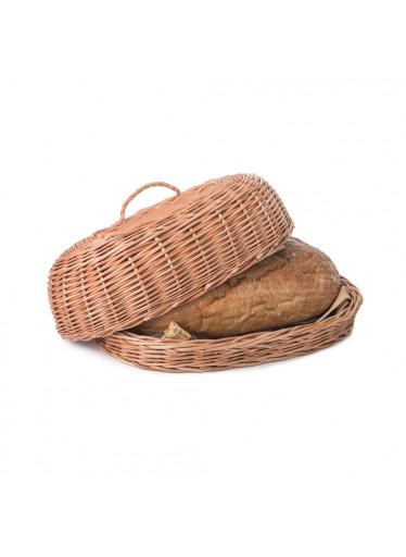 ČistéDřevo Proutěná ošatka na pečivo s víkem