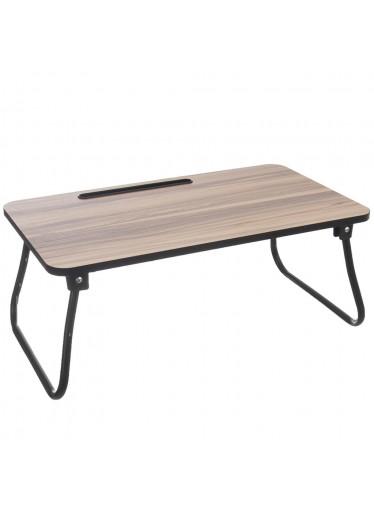 Orion Dřevěný servírovací stolek do postele s kovovými nohami