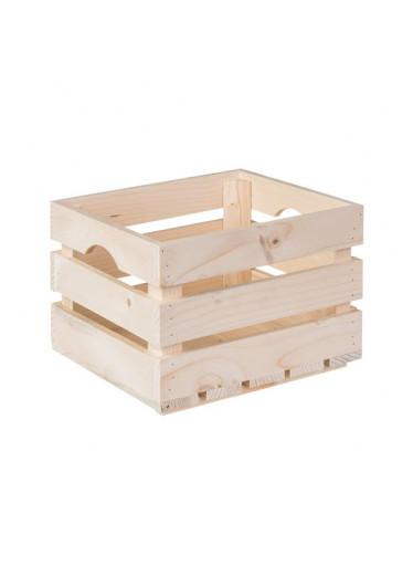 ČistéDřevo Dřevěná bedýnka 30 x 25 x 20 cm