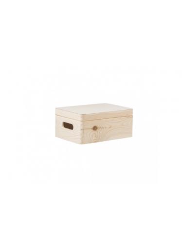 ČistéDřevo Dřevěný box s víkem 30X20X14 CM