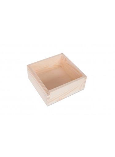 ČistéDřevo Dřevěný box 15x15 cm