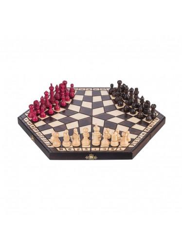 ČistéDřevo Dřevěné šachy - šestihran pro 3 hráče