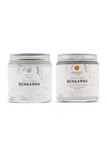 Ben & Anna Pomerančová zubní pasta s fluorem (100 ml)