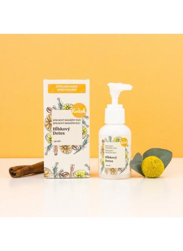 Kvitok Sprchový masážní olej proti celulitidě Hloubkový detox (50 ml)