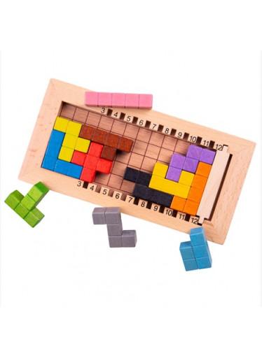Bigjigs Dřevěná hra - Tetris