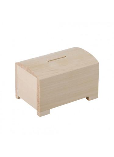 ČistéDřevo Dřevěná truhlička pokladnička