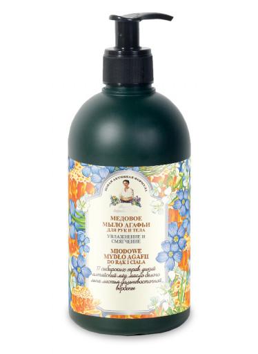 Agafja medové mýdlo na tělo a ruce 500 ml