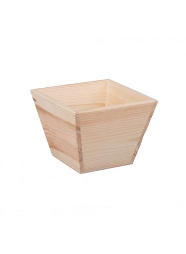 ČistéDřevo Dřevěný květináč - čtverec