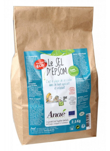 Ecodis Epsomská sůl (pytel 2,5 kg) - do koupele, peelingu i na zahradu