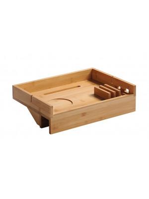 Kesper Bambusový závěsný stolek do postele