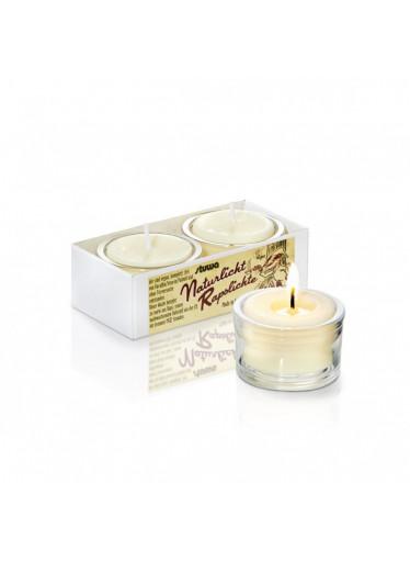 Stuwa Sada malých svíček ve skle - bez vůně (2 ks x 28 g) - bez parfemace, pro citlivé nosy