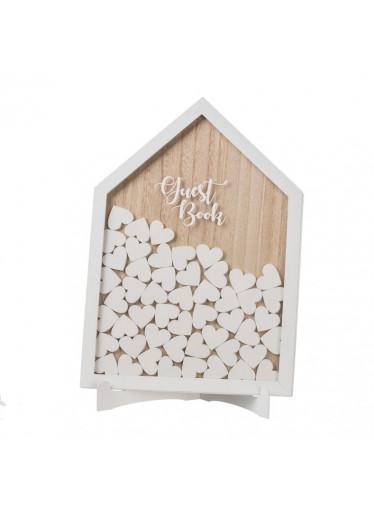 ČistéDřevo Dřevěná kniha hostů - dům