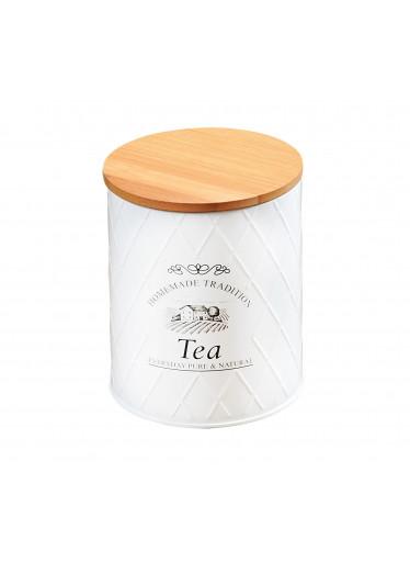Kesper Plechová dóza s bambusovým víkem - Tea