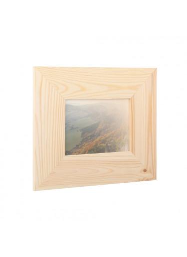ČistéDřevo Dřevěný fotorámeček na zeď 29.5 x 25 cm
