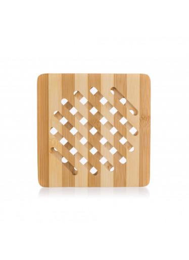 ČistéDřevo Hranatá bambusová podložka pod hrnec - 18 cm