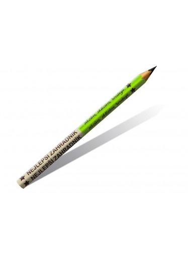 ČistéDřevo Dřevěné tužky nejlepší zahradník 2 ks