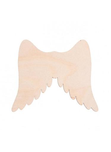ČistéDřevo Dřevěná andělská křídla I 11 x 9 cm