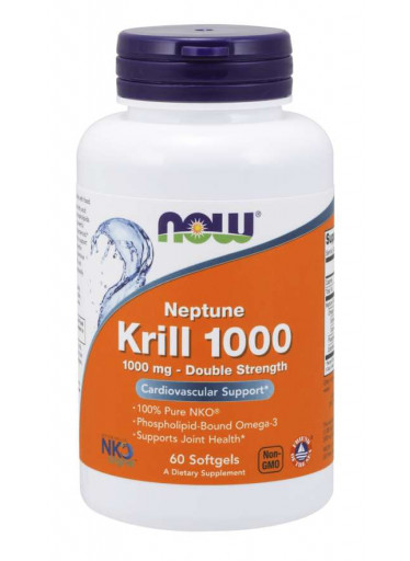 NOW Krill Oil Neptune (olej z krilu), 1000 mg, 60 softgel kapslí