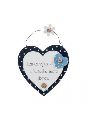 ČistéDřevo Dřevěná cedulka láska vykouzlí z každého místa domov