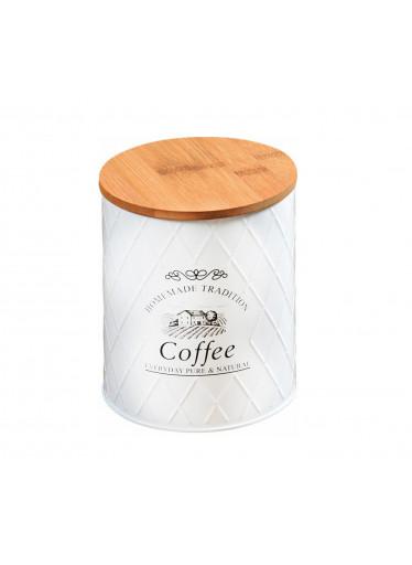 Kesper Plechová dóza s bambusovým víkem - Coffee