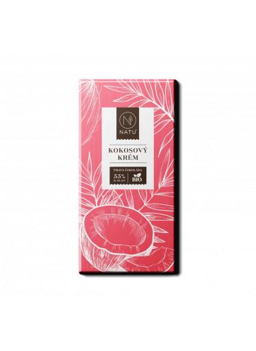NATU Hořká čokoláda Kokosový krém BIO 45 g