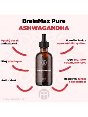 BrainMax Pure Ashwagandha, tinktura, 100 ml