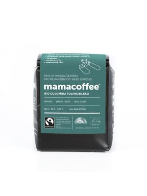 mamacoffee zrnková káva Bio Colombia Tolima Bilbao ASPRASAR 250g g - medová sladkost s jablkem a vanilkou