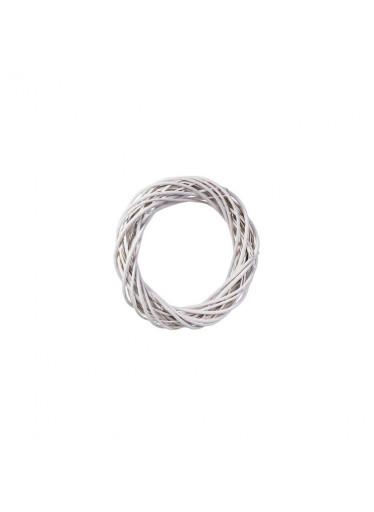 ČistéDřevo Proutěný věnec bílý 26 cm