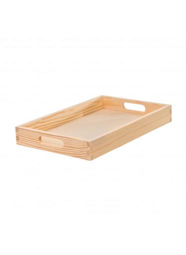 ČistéDřevo Dřevěný servírovací tác 39 x 25 cm