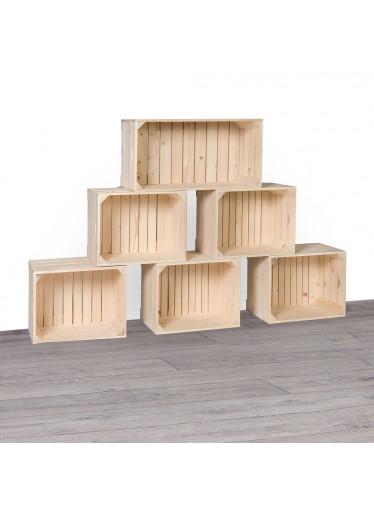 ČistéDřevo Dřevěné bedýnky knihovna 140x90x24 cm