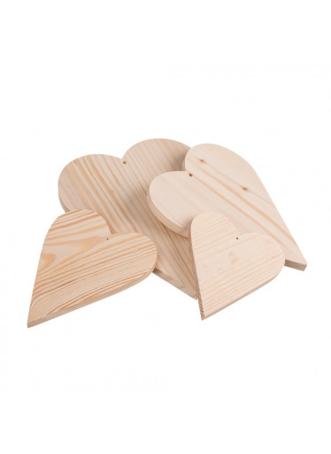 ČistéDřevo Dřevěná srdíčka 4 ks