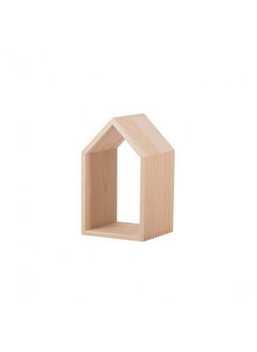 ČistéDřevo Dřevěná polička domeček otevřená - malá