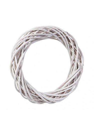 ČistéDřevo Proutěný věnec bílý 42 cm