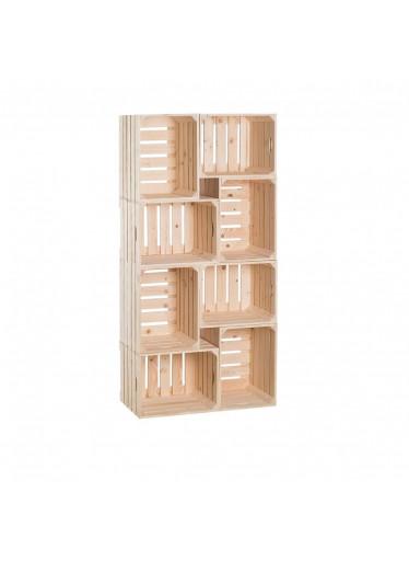 ČistéDřevo Dřevěné bedýnky knihovna 140 x 70 x 30 cm