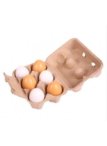 Bigjigs Dřevěné vajíčka v krabičce