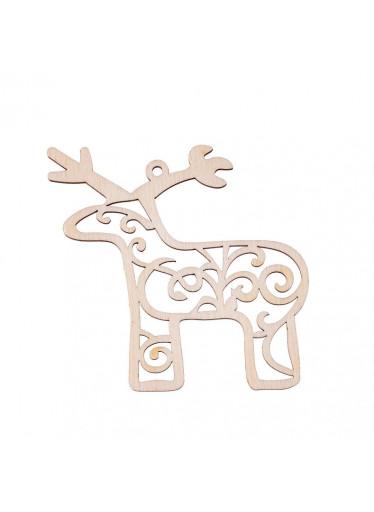 ČistéDřevo Dřevěná vánoční ozdoba - sob II