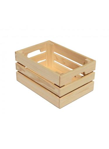 ČistéDřevo Dřevěná bedýnka 32 x 22 x 15 cm