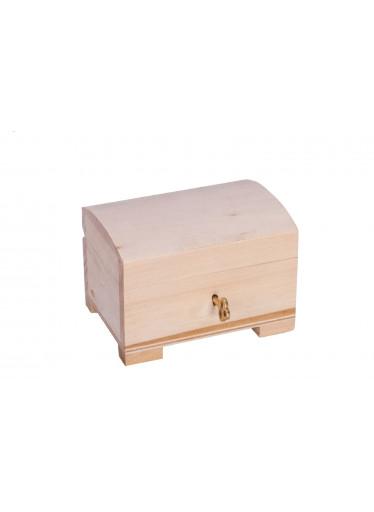 ČistéDřevo Dřevěná truhlička na řetízky a šperky na klíček